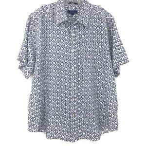 Alan Flusser large button down short sleeved shirt